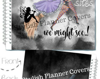 Halloween Planner Cover, I WANNA Be a FAIRY Planner Cover, Recollection Planner, Happy Planner Cover, For use with Erin Condren Life Planner