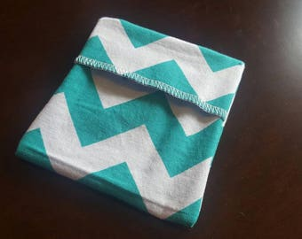 Ready to ship! Pad Wrapper- Turquoise Chevron