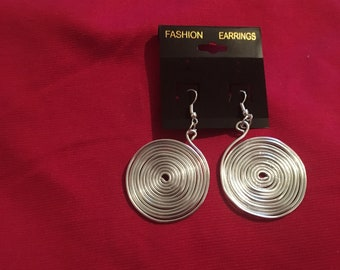 Handmade silver color earrings