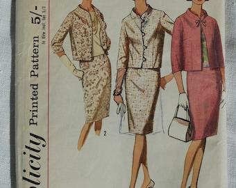 Vintage suit pattern, Simplicity 5881, Misses' suit and blouse, size 34 inch bust, 1965