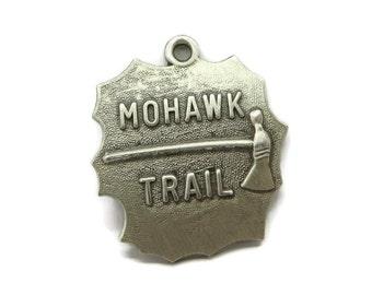 Vintage Silver Charm, Mohawk Trail Charm, Sterling Silver Pendant, Travel Charm, Gift Idea