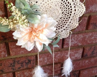 Floral Doily Dream Catcher
