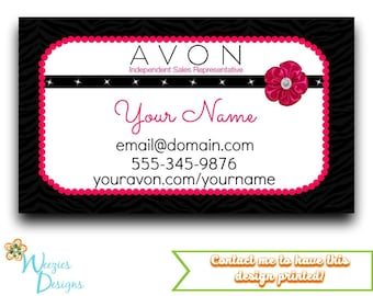 Avon Business Card, Direct Sales Marketing, Independant Consultant, Directs Sales Business Card