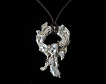 Freeform Silver Pendant - Angelic Sprite