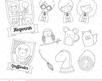 Hero Kids - Harry Potter inspired digital clip art