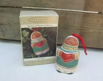 Vintage Hallmark Terra-cotta Ornament / Sweet Song / Vintage 1995 / Sculpted Keepsake Tree Ornament / Symbols of Christmas Collection