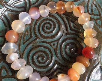 CARNELIAN  gemstone crystal bracelet stretchy large beads beaded crystal healing chakra