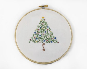 Embroidery Kit - Gift Set, Skill level 2, Tree Design