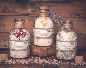 Botanical Bath Salts, Relaxation Gift, Gift for Mom, Self Care, Bestie Gift, BFF Gift, Gifts under 30, Bath Salts, Mom Gift, Botanical, Spa