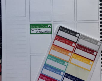 Project Planner Stickers
