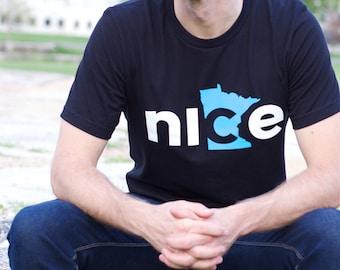 Nice Minnesota T-Shirt, Black - State Shirt, Minnesota Nice Shirt, Adult T-shirt