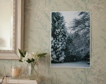 Snowy Winter Scene Fine Art Photography Print - A3 Size