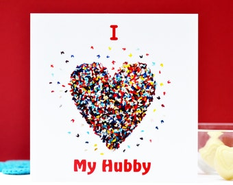 I Love My Hubby Card, Hubby Valentines Card, Hubby Anniversary Card, Husband Card, Hubby Birthday Card, Missing You Hubby Card