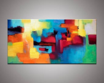 Abstract Art, Large Oil Painting, Canvas Painting, Large Wall Art Painting, Contemporary Art, Bathroom Sign, Original Abstract Art