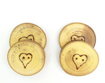 Heart Buttons Eco wedding favors Baby shower love favors Baby shower eco favors Wedding love favors Heart favors Love Buttons Valentine Gift