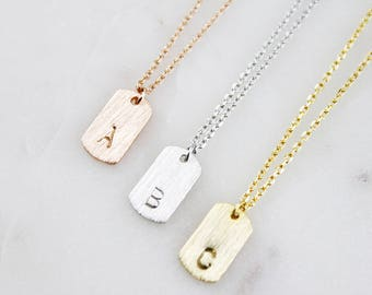 Engraved Necklace Small Name Tag Necklace