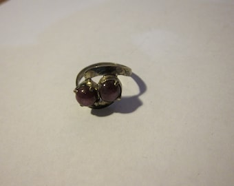 Size:  U.S. 5 ** Gorgeous 1950s-60s Sterling Silver Ring (30)