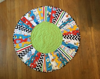 Tummy Time Quilted Baby Blanket