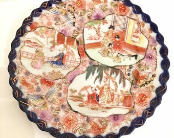 Hand painted Japanese plate.