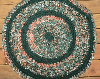 Crochet Rag Rug, Shabby Chic, Cottage Chic, Rustic Decor, Country Chic Rug