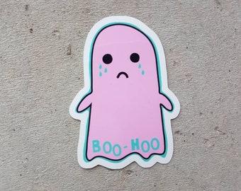 Boohoo Crying Ghost Sticker
