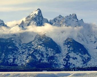 Wyoming Art, Teton National Park, Grand Teton Mountain