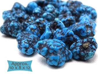 Authentic Kingman Spiderweb Grade A Turquoise Nuggets--5 Pcs.   KM-A1125W-5