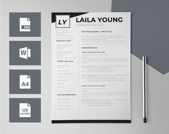 Resume Template for Word - CV Template - CV design - Modern Resume Templates - Resumes - Resume Design - Resumes for Word - Curriculum Vitae