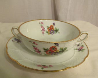 Rosenthal Flat Cream Soup Bowl and Saucer