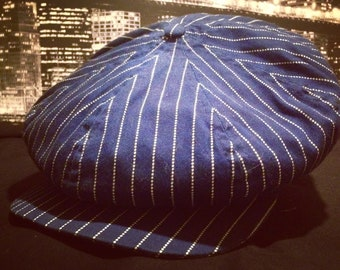 Made to order Wabash stripe 8 panel cap