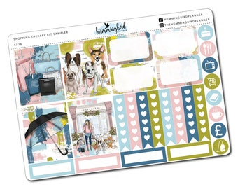 Shopping Therapy Kit Sampler | KS16 | Planner Stickers for Erin Condren Vertical Planners - Physical Item | The Hummingbird Planner