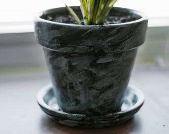 Hand Painted Indoor Plant Pot (Small)