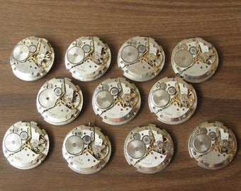 26 mm Watch Movements, Small Watch Movements, Steampunk Supplies, Watch Movements For Parts, Antique Watch Parts, Old Watch Sup