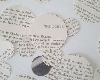 Book Page Confetti, Sherlock Holmes Confetti, Party Table Decor, Recycled Book Pages, 250  Wedding/ Birthday Confetti