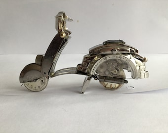 Moped made from Watch parts