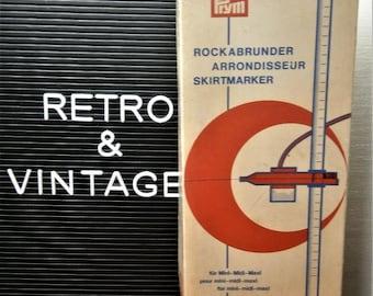 Vintage oranje-wit rok meter / marker rok / rock abrunder PRYM w. Duitsland