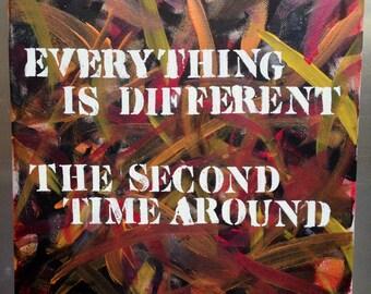 Regina Spektor Lyric/Quote Acrylic Painting on Canvas 12 x 12 Orange is the New Black
