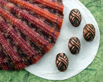Antique Copper Beads, Copper Ox Beads, Antique Copper Pewter Beads, Lead Free Pewter Beads, Vintage Reproductions, Made in USA ~ PB-120 AC