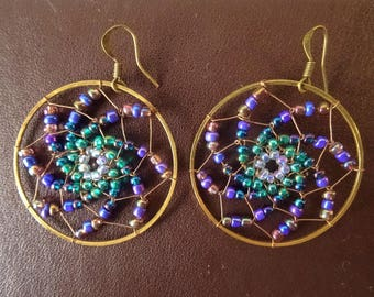 psychedelic earrings / spiral