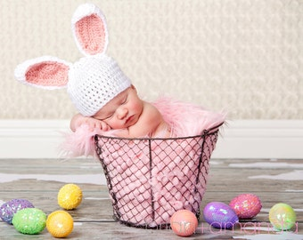 Baby Bunny Hat -Newborn or 0-3 month Customize Color