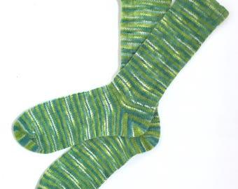 Handmade Wool Socks 431 -- Men's Size 9-11