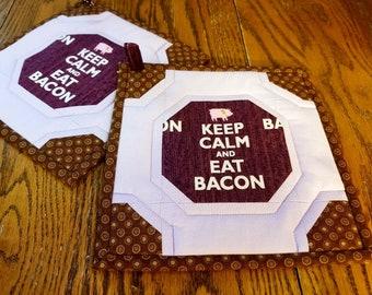 Eat Bacon Potholders