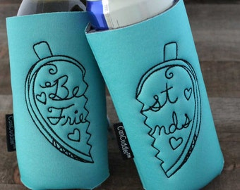 Best Friend Gift - Best Friend Birthday Gift - Gift for Her - Birthday Gift - Can Cooler Gift Set - Gift for Sister - Drinking Gift - BFF