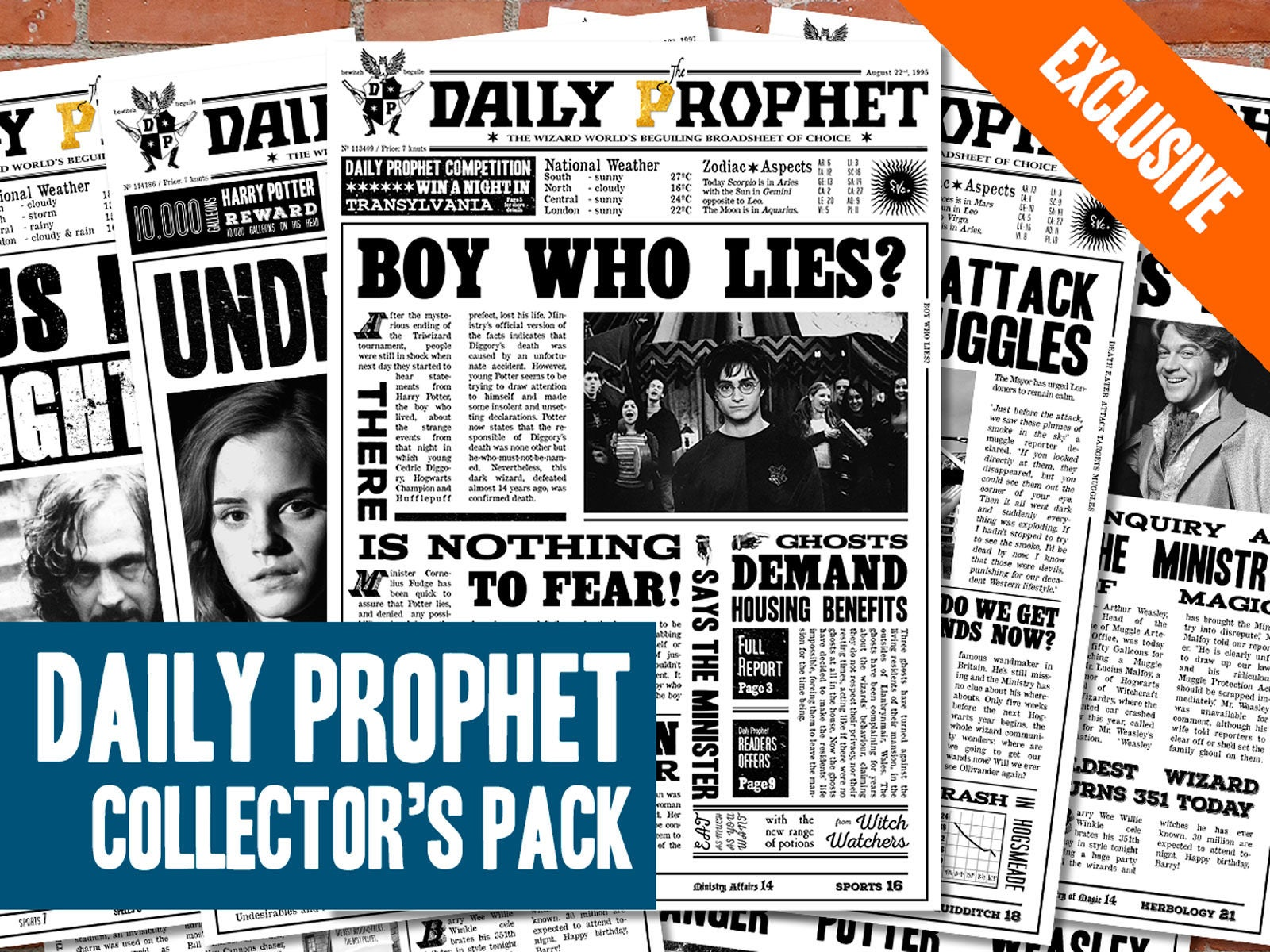 It's just an image of Sly Harry Potter Daily Prophet Printable