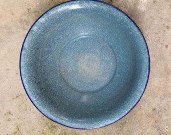 Enamelware Platter - French Vintage Platter - French Enamelware - Vintage Platter - Enamel Platter - Enamel Bowl - Vintage Kitchen