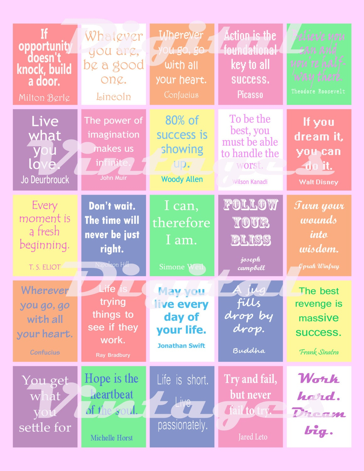 Daily Life Inspirational Quotes Inspiration Quote Stickers Planner Planner Stickers Life