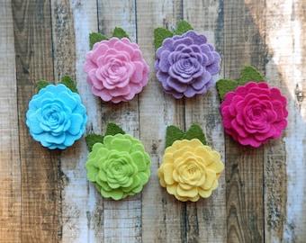 Wool Blend Felt Fabric Vintage Roses - Spring Pop - You Choose the Quantity