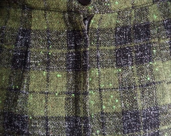 In the Library Vintage Tweed Skirt by Ardee Sportswear California