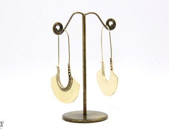 Big long brass earrings, brass earrings, statement brass earrings, Boho earrings, brass earrings, big earrings, gold earrings
