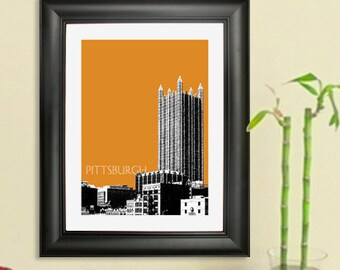 Pittsburgh Skyline Poster -  Pittsburgh PPG Place Art Print